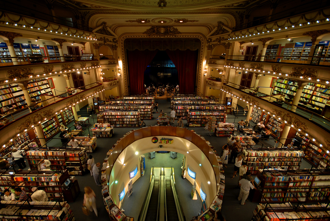 Interior of the bookstore El Ateneo Grand Splendid in Buenos Aires.