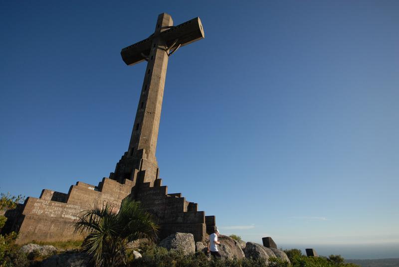 The 35 meter high cross on the summit of Pan de Azúcar.