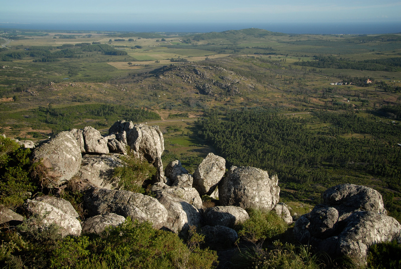 View from Pan de Azúcar with the Rio de la Plata in the distance.