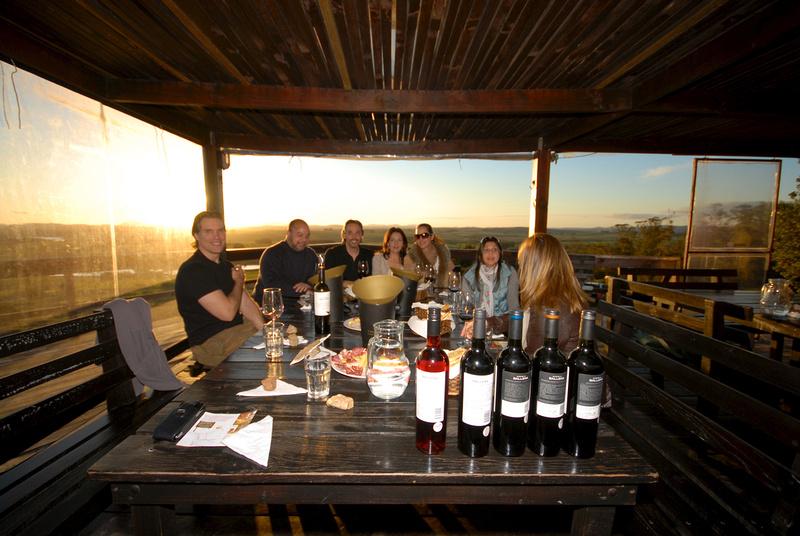 Wine tasting at Alto de la Ballena.