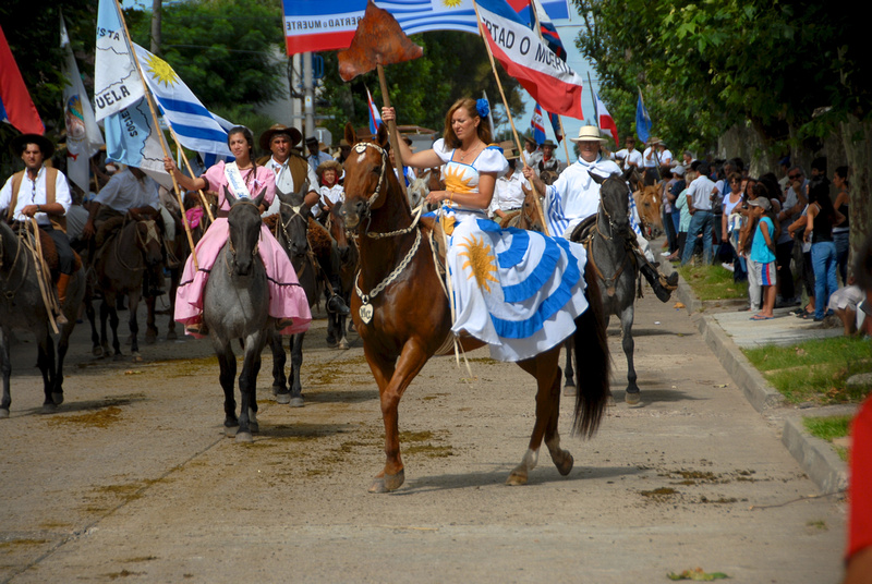 Horse parade at La Patria Gaucha