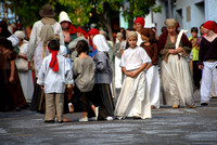 Children during the reenactment of the exodus.