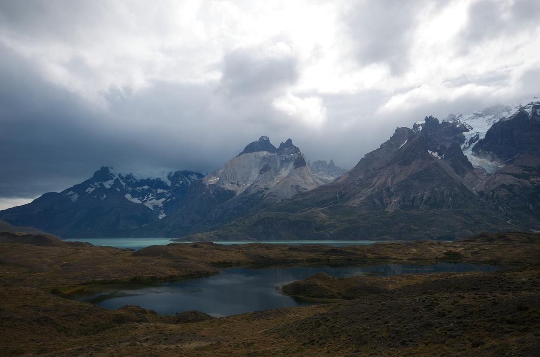 Cuernos del Paine, Torres del Paine and Cerro Paine Grande.